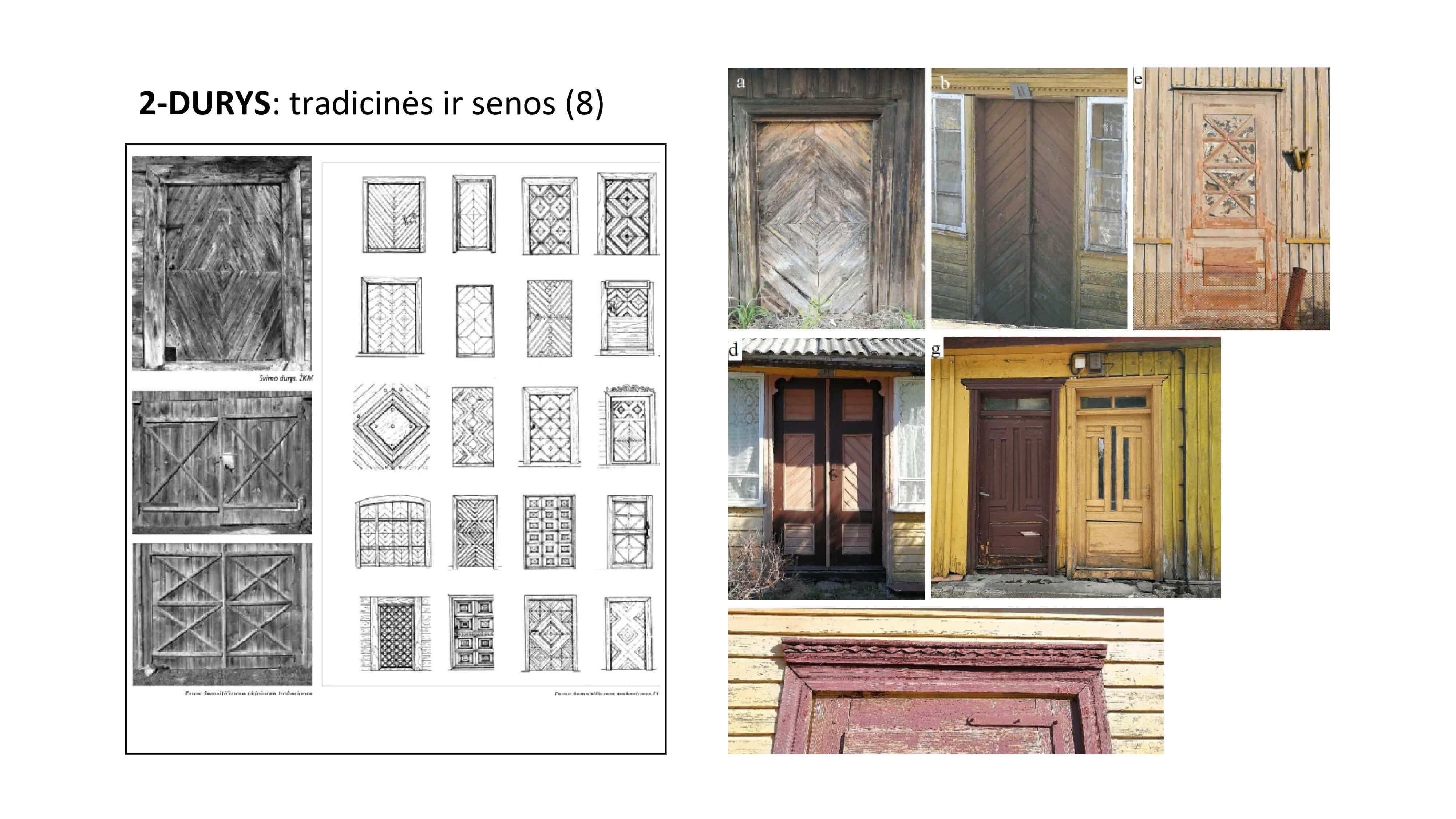 medinės durys tradicinės ir senosios