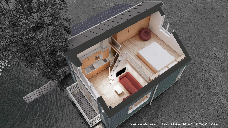 Poilsio namelio planas 3D